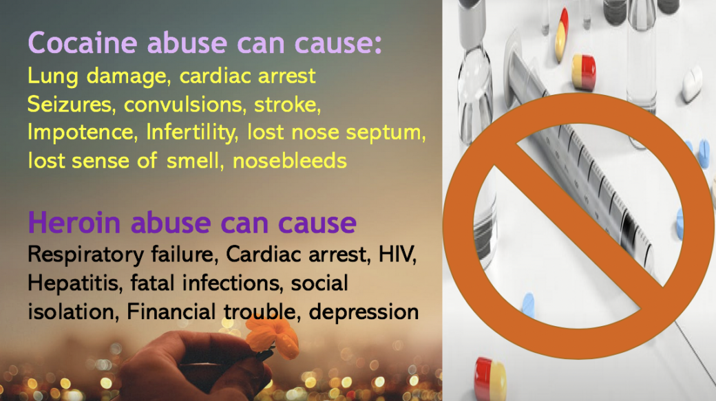 No alcohol, no tobacco no drugs is the Muslim motto. Cocaine can cause stroke and heart attack