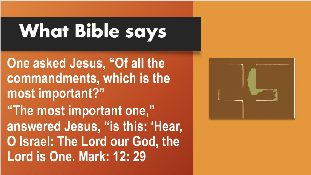 First commandment in the Bible: God is One. qpeace.net. Slide#165