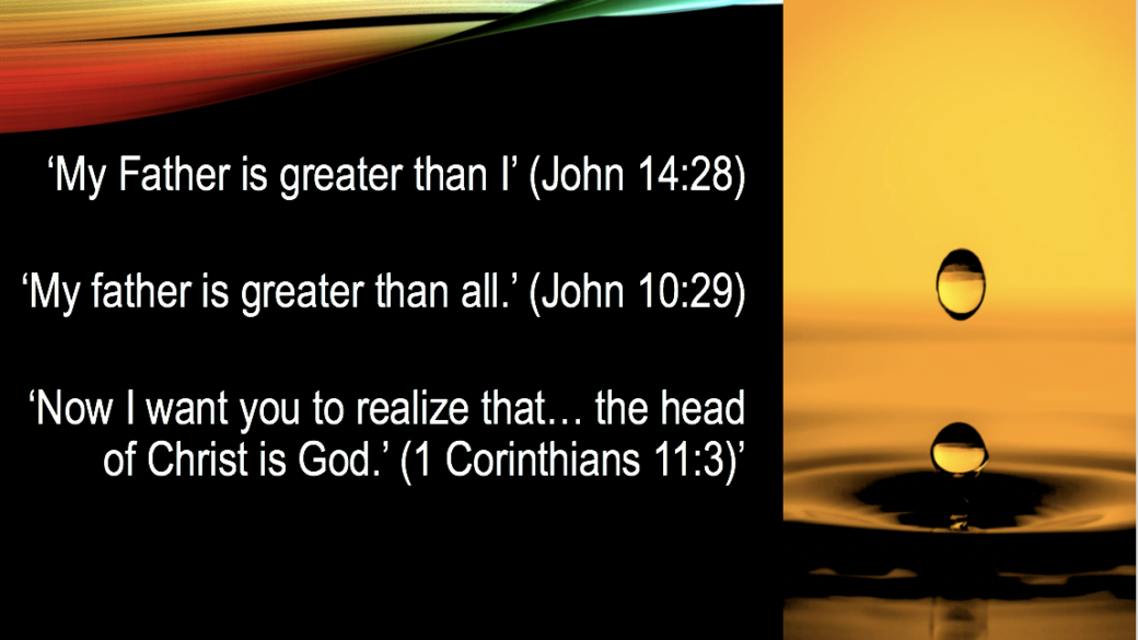My father is greater than I - Jesus. https://qpeace.net