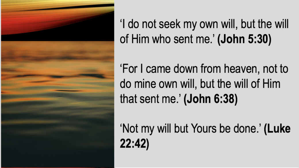 Whose will did Jesus want to fulfill ? slide 48