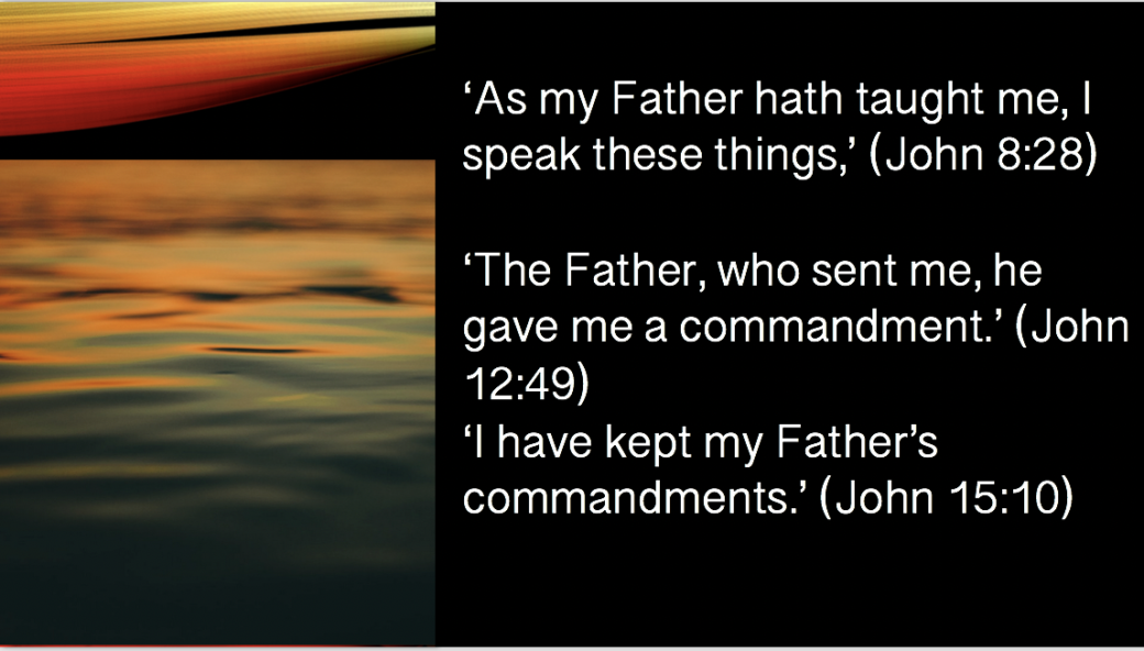 """""""But concerning that day and hour no one knows, not even the angels of heaven, nor the Son, but the Father only"""" (Matt. 24:26; cf. Mark 13:32) slide 49"""