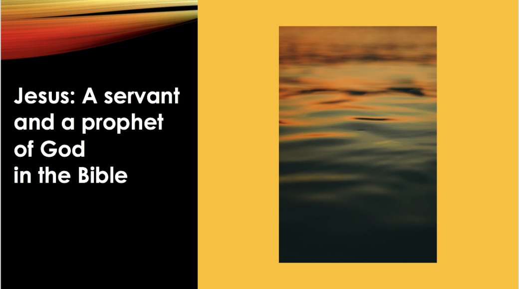 Jesus was a servant and a prophet of God. qpeace.net. slide 54