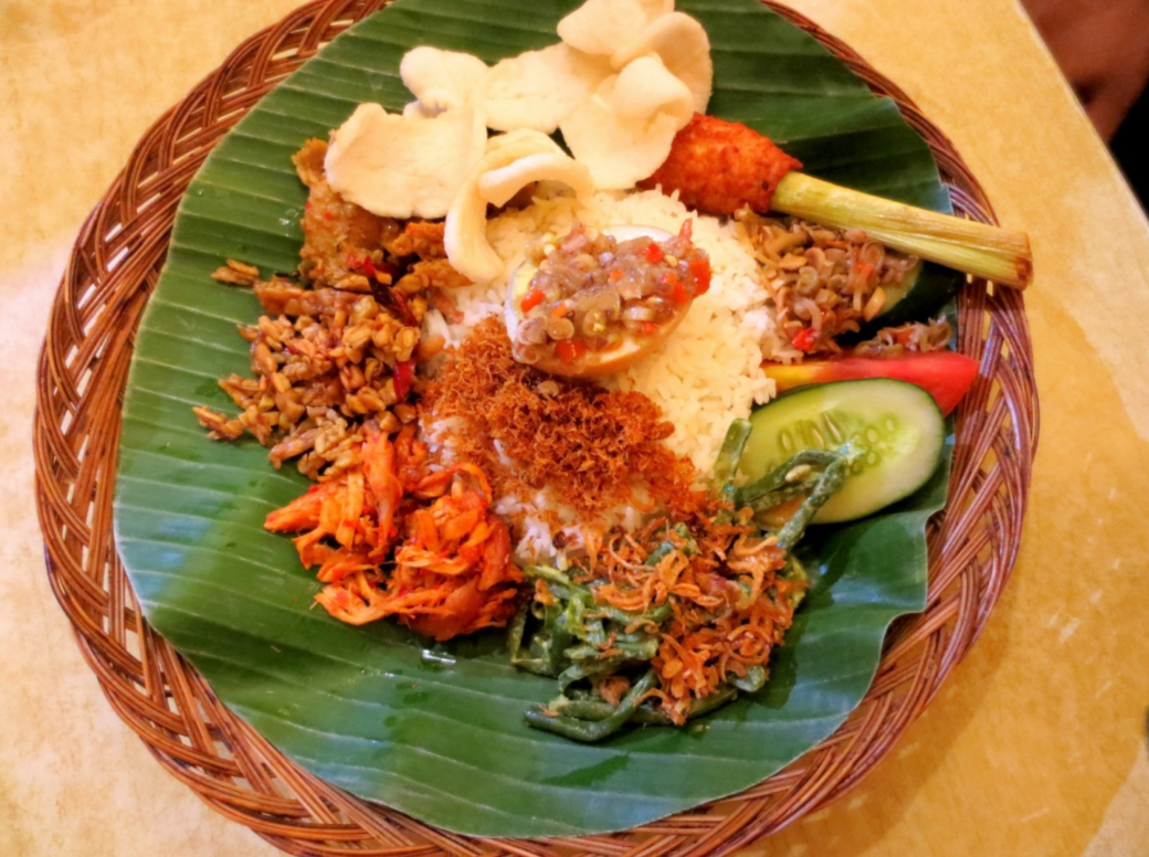 The staple foods for Indonesians include rice (Nasi- most widely consumed) noodles, cassava, corns and sweet potatoes.